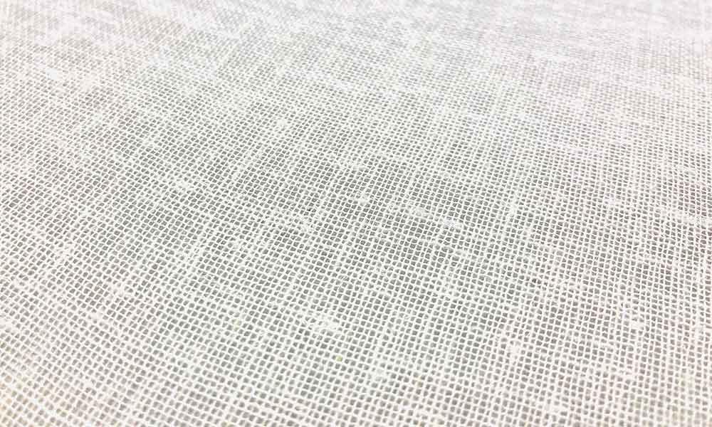 Propozycja tkaniny białej linen look na panele japońskie