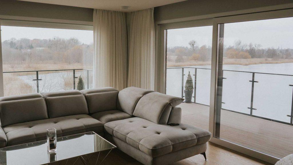 Firny lniane dekorujące okno nowoczesne