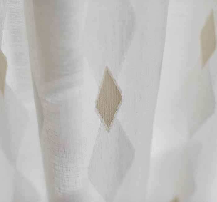 Firany na wymiar z tkaniny typu linen-look