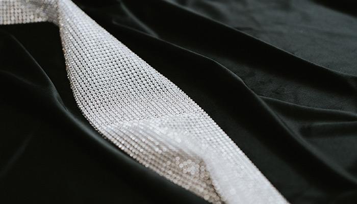 Zasłony z kryształkami z czarnej tkaniny welurowej